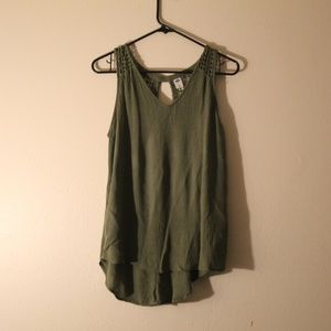 Old Navy top olive green size medium.